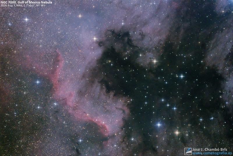 NGC 7000, Nebulosa del Golfo de México