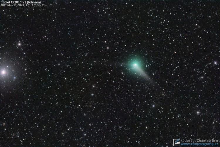 El cometa C/2015 V2 Johnson se aproxima