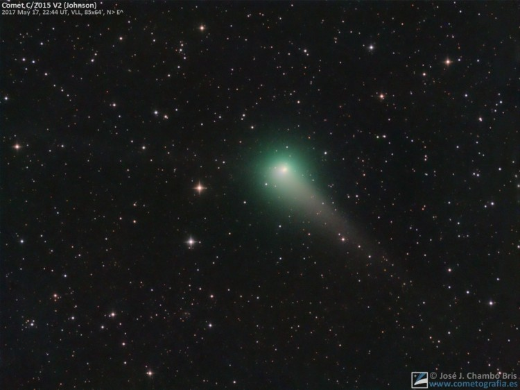 Cometa C/2015 V2 Johnson (17-May-2017)