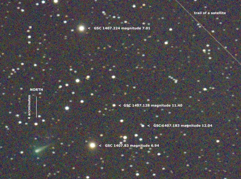 Imagen del cometa C/2012 S1 (ISON) obtenida el 16 de Septiembre de 2013, desde Nikko-shi, Tochigi (Japón). Foto: © Hiro*