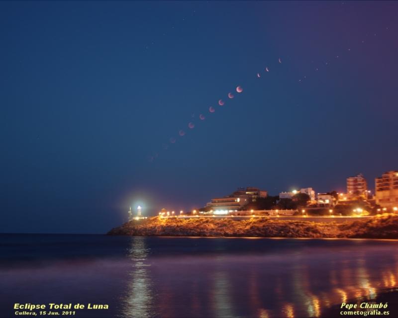 Eclipse Total de Luna desde el Faro