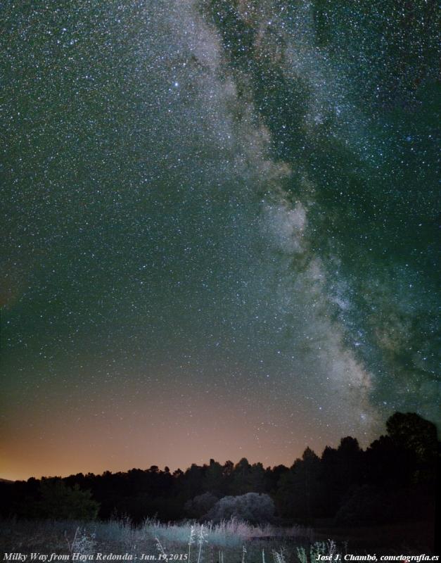 Vía Láctea desde Hoya Redonda