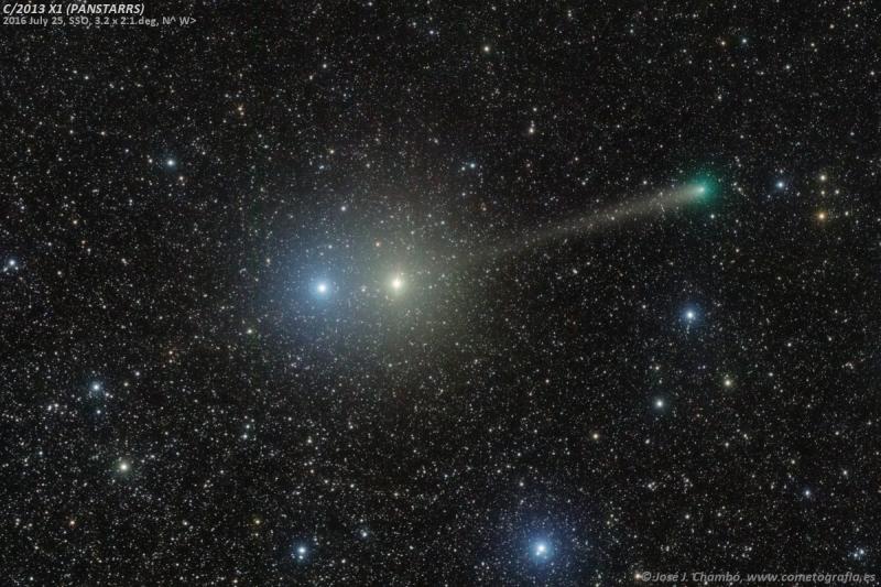 El cometa PanSTARRS entre las joyas de Centauro