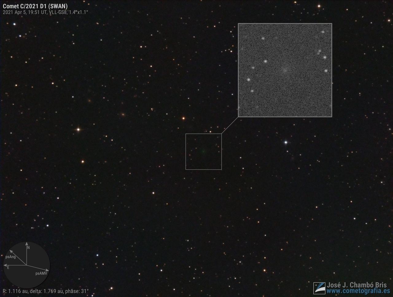 Cometa C/2021 D1 (SWAN)