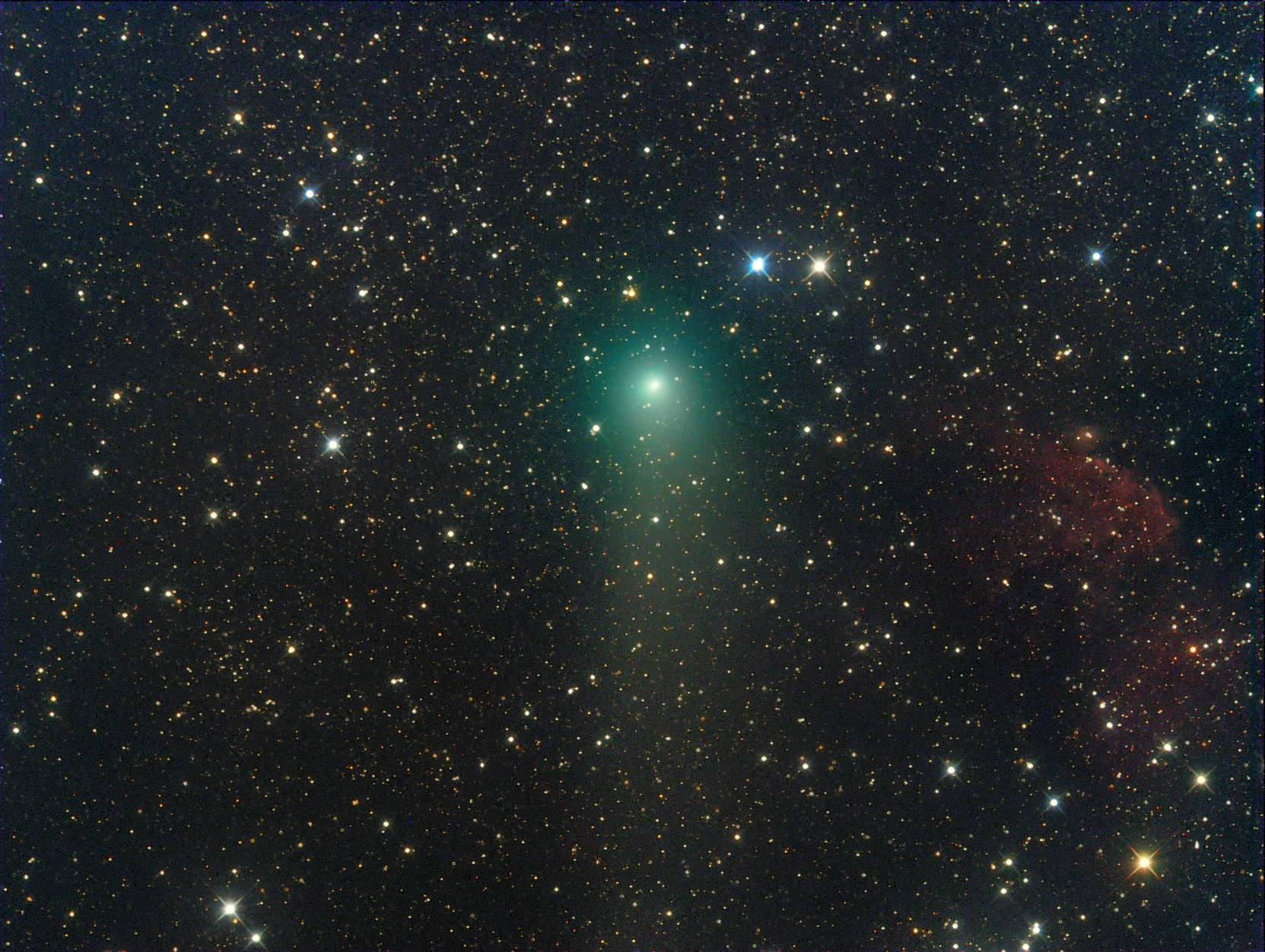 Imagen del cometa C/2012 F6 (Lemmon) obtenida el 9 de Julio de 2013 desde  Weißenkirchen, Wachau (Austria). Foto: Michael Jäger*