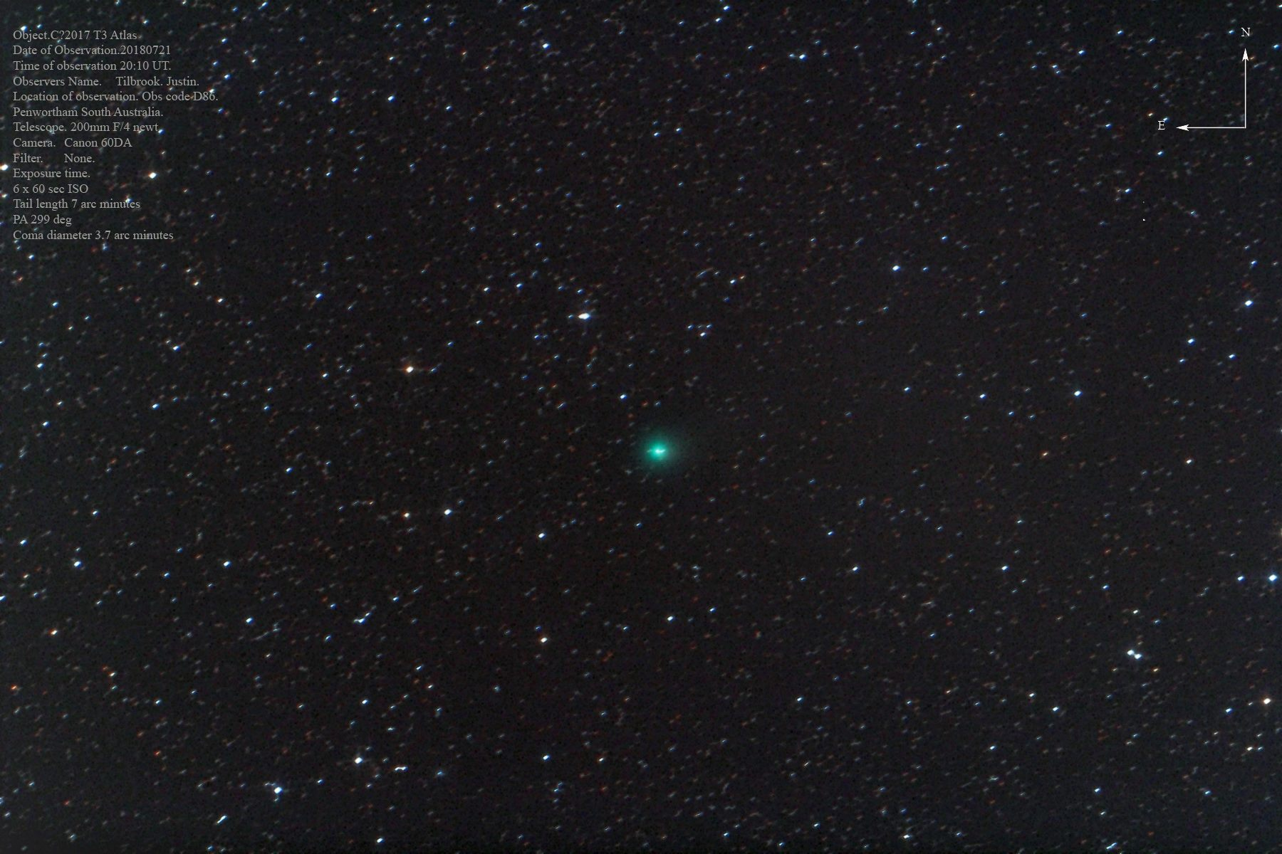 Cometa C/2017 T3 (ATLAS)