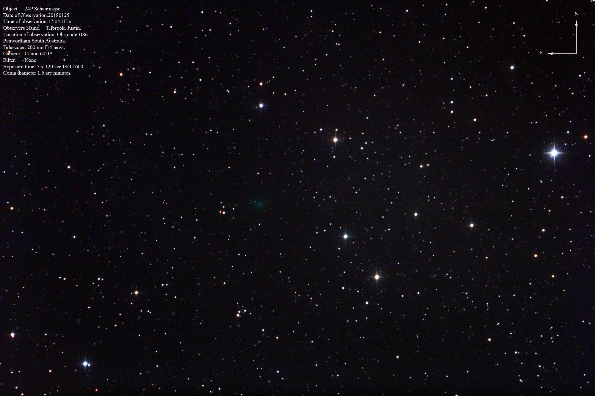 Cometa 24P/Schaumasse