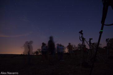 Astrofotógrafos bajo las estrellas